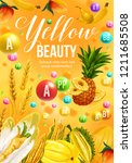 color diet poster with yellow... | Shutterstock .eps vector #1211685508