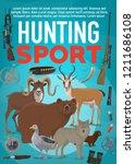 hunting sport poster  wild...   Shutterstock .eps vector #1211686108