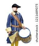 faceless man drummer in... | Shutterstock . vector #1211689075