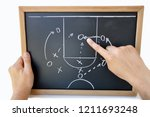 coach indicating with the... | Shutterstock . vector #1211693248