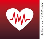 heartbeat icon for medical | Shutterstock .eps vector #1211695495