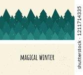 Magical Winter. Vector...