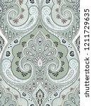 baroque damask pattern ...   Shutterstock . vector #1211729635