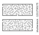 black abstract rectangular maze.... | Shutterstock .eps vector #1211730175