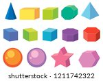 set of geometry shapes... | Shutterstock .eps vector #1211742322