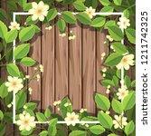 flower on wooden background...   Shutterstock .eps vector #1211742325