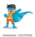 vector illustration of boy that ... | Shutterstock .eps vector #1211751532