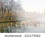cold and foggy morning at the... | Shutterstock . vector #121175362