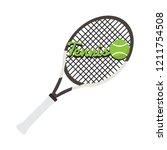 tennis racket with text. vector ... | Shutterstock .eps vector #1211754508