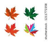 maple leaf logo icon design... | Shutterstock .eps vector #1211772358