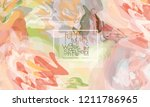 abstract cover template with... | Shutterstock .eps vector #1211786965