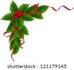 christmas holly | Shutterstock . vector #121179145
