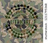 authorize on camo texture | Shutterstock .eps vector #1211795368