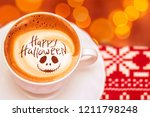 cup of coffee with the... | Shutterstock . vector #1211798248