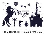 fairy tale vector silhouette... | Shutterstock .eps vector #1211798722