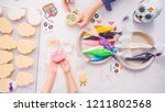 step by step. flat lay. mother... | Shutterstock . vector #1211802568