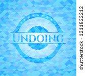 undoing light blue emblem....   Shutterstock .eps vector #1211822212