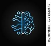 ai brain simple vector blue...   Shutterstock .eps vector #1211830642