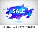 vector sale facet crystal... | Shutterstock .eps vector #1211837008