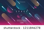 vector universe background for... | Shutterstock .eps vector #1211846278