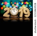 happy new year holiday... | Shutterstock .eps vector #1211863528