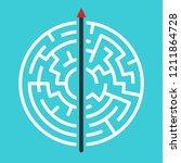 straight arrow going right... | Shutterstock .eps vector #1211864728
