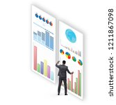concept of business charts and... | Shutterstock . vector #1211867098
