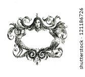 decorative borders drawn in ink ... | Shutterstock . vector #121186726