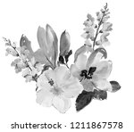 beautiful watercolor flowers.... | Shutterstock . vector #1211867578