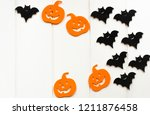 halloween background. paper... | Shutterstock . vector #1211876458