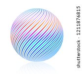 abstract bright striped color... | Shutterstock .eps vector #1211876815