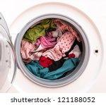 Washing Machine Full Of Dirty...