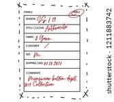 sample card print design ...   Shutterstock .eps vector #1211883742