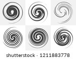 circular twisted swirl elements ... | Shutterstock .eps vector #1211883778