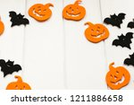 paper halloween decorations... | Shutterstock . vector #1211886658