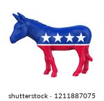 democratic donkey isolated. 3d... | Shutterstock . vector #1211887075