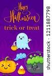 happy halloween. trick of treat | Shutterstock .eps vector #1211887798