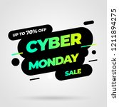 cyber monday discount sale... | Shutterstock .eps vector #1211894275