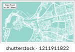 cape town south africa city map ... | Shutterstock . vector #1211911822