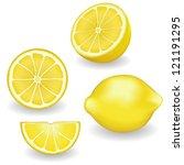 lemons  four views. fresh ... | Shutterstock .eps vector #121191295