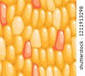 yellow corn seeds vector... | Shutterstock .eps vector #1211913298