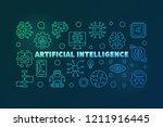 artificial intelligence... | Shutterstock .eps vector #1211916445