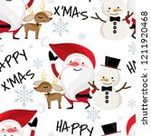 santa claus with snow flake ... | Shutterstock .eps vector #1211920468