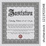 grey vintage invitation...   Shutterstock .eps vector #1211923348