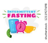 intermittent fasting. the... | Shutterstock .eps vector #1211927698