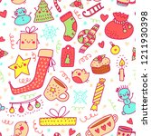 beautiful christmas objects in...   Shutterstock .eps vector #1211930398