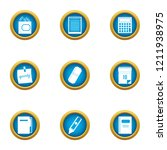 notation icons set. flat set of ... | Shutterstock .eps vector #1211938975
