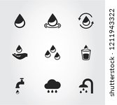 water icons set isolated on... | Shutterstock .eps vector #1211943322