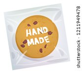 hand made chocolate chip cookie ... | Shutterstock . vector #1211949478