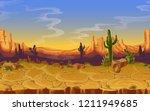 seamless desert landscape.... | Shutterstock . vector #1211949685